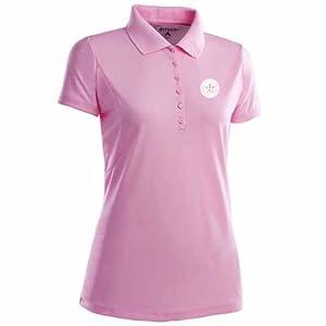 Houston Astros Ladies Pique Xtra Lite Polo Shirt (Pink) by Antigua