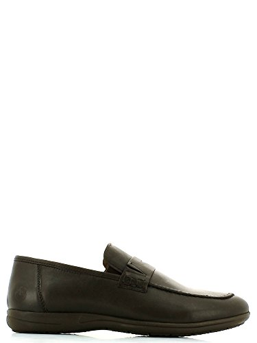 Mocassini Lumberjack Xoffice per uomo in pelle marrone, Dark Brown, 46