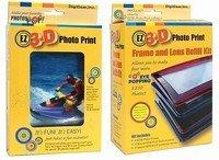 Digigear EZ3D Photo Print Combo Pack : DIY 3D Lenticular Photo Christmas Unique Gadget Gift