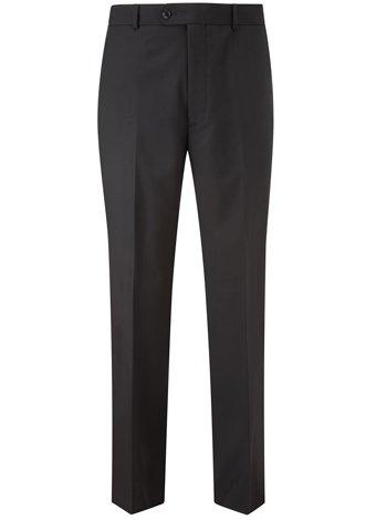 Austin Reed Regular Fit Black Travel Trousers SHORT MENS 42