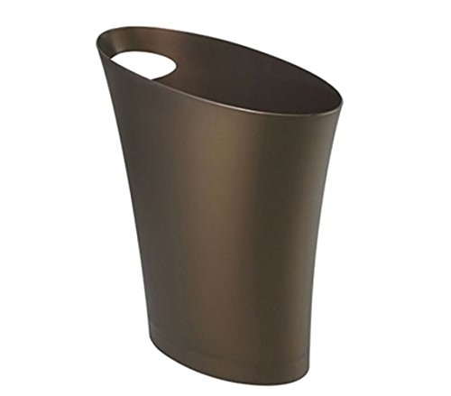 Umbra Skinny Polypropylene Waste Can, Bronze (Bathroom Garbage Can Bronze compare prices)