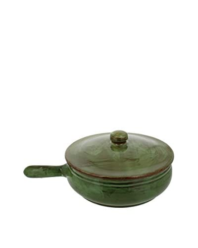 COLI 2.25-Qt. Italian Stoneware Frying Pan with Lid, Cilantro Green