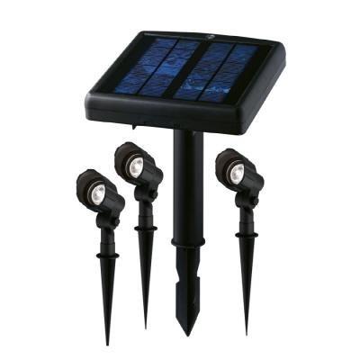 Hampton Bay 3 Light Led Spotlight Kit With Remote Solar Panel Patio Lawn U0026 Garden Huge Discount ...