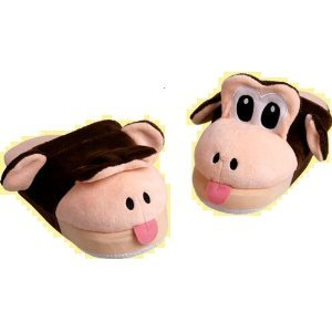 Baby Monkey Pop-Up-Pals Slippers Small = Size 11/12 best for ages 3,4,5