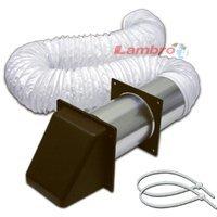"Lambro 205B Bathroom Vent Kits, Brown, 4"" X 5' front-602592"
