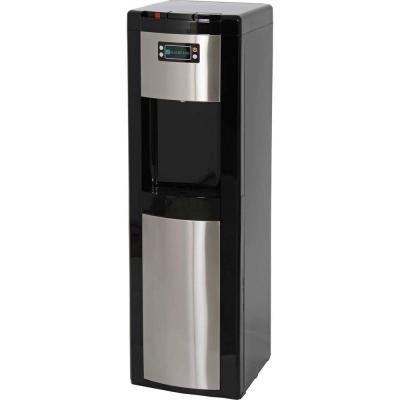 Water Dispenser in Stainless Steel Features Bottom Load, Electronic Sensor Water Level Monitoring and High Efficiency Compressor, Black Piano Gloss Finish (Glacier Bay Water Cooler compare prices)