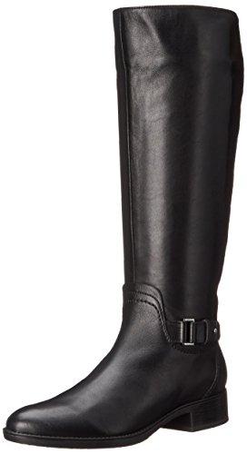 Geox D FELICITY A - Stivali da donna, nero (noir/vit liscio), 35