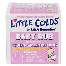 Petits remèdes Petit rhume de bébé Rub
