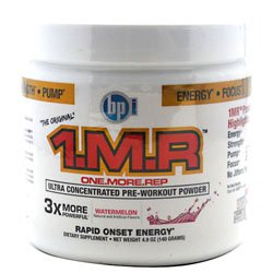 BPI 1.M.R Original Pre-Workout Formula, Watermelon, Net Wt. 4.9 oz.