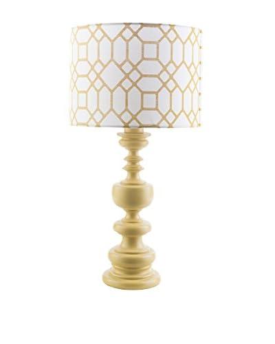 Surya Wilson Outdoor Table Lamp, Yellow