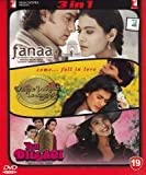Fanaa / Dilwale Dulhania Le Jayenge / Yeh Dillagi (3 in 1 DVD Without Subtittle)