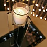 Large Mirrored Acrylic Votive Candle Holder Centerpiece Riser, 12 inch