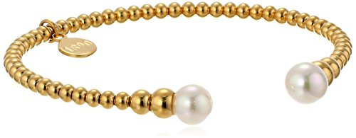 Majorica Faux Pearl and Gold-Tone Stainless Steel …