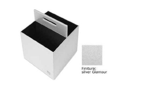Portariviste Time Square argento finitura Glamour Art 8040