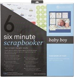Six Minute Scrapbooker 12 Inch x12 Inch Page Kit - Baby Boy