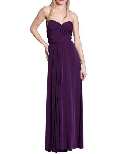 Vonvonni Women'S Transformer Dress, Long One Size Fits All Eggplant