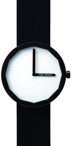 Issey Miyake Twelve Silap 371LAP002 - Reloj unisex de cuarzo, correa de piel color negro