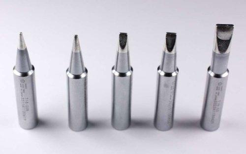Hakko T18 Series Chisel Pack with T18-D08/D12/D24/D32/S3 Tips Model: