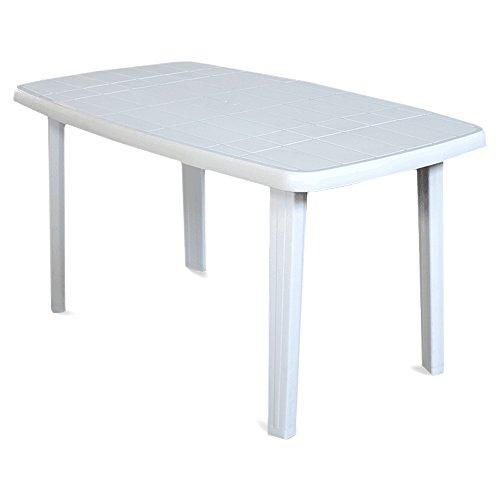 Sorrento tavolo rettangolare da giardino in resina bianco for Tavoli emu prezzi