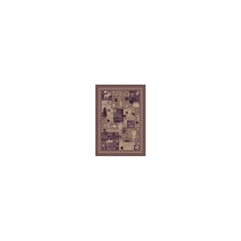 Signature Deer Trail Light Amethyst Country 7.8 X 10.9 Area Rug