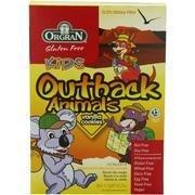 Orgran, Gluten Free Kids Outback Animals, Vanilla Cookies, (8 X 6.2 Oz.)