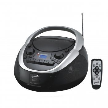 Supersonic SC-767 MP3/CD Player with AUX Inputs, Cassette Recorder & AM/FM Radio