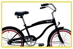 Micargi Famous for Boy - Black - Beach Cruiser Bike Bicycle, 20