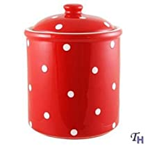 Spode Baking Days Covered Jar - Red