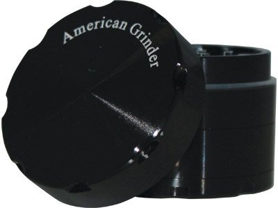"American 4Pc Solid Top Grinder - 2.0"" ~ Choose Your Color (Black)"