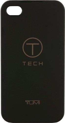T-Tech by Tumi 00975 Rubberized Snap On Case for iPhone 4/4S - 1 Pack - Retail Packaging - Black
