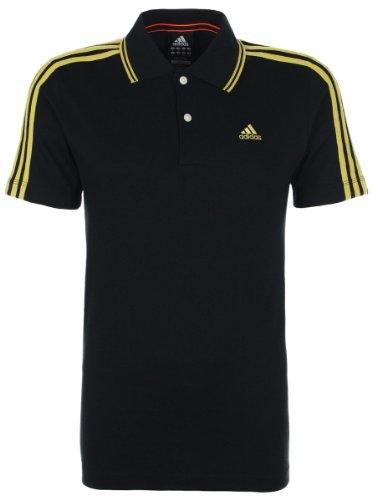 Adidas Performance da uomo Clima3653Stripe Polo S, colore: nero