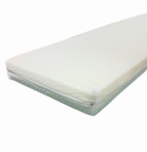 Dibapur 90cm x 200cm x 5cm Viscoelastische Matratzenauflage mit Bezug Visco Auflage Topper Memory Matratze Gelschaum