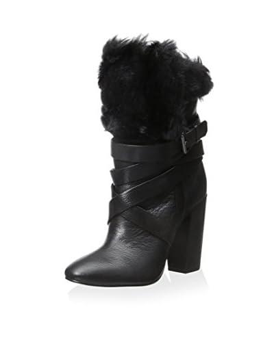 Pour La Victoire Women's Bionda Fold Over Faux Fur Ankle Boot