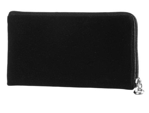 Reissverschluss Handytasche passend für Phicomm i600 Convenient Schutz Hülle Slim Case Cover Etui schwarz (s1)