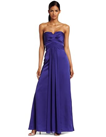 maxandcleo Women's Korrine Strapless Dress, Blue Poppy, 8