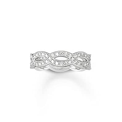 Thomas Sabo Women's Ring 925 Silver With TR1973 Silver - 54