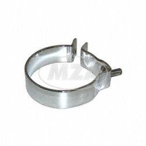 collier de serrage pour pot d chappement avec support 80 mm rt125 es125 ets ts. Black Bedroom Furniture Sets. Home Design Ideas
