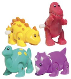 ROAMING DINO Dinousar Wind Up Toy Assorted