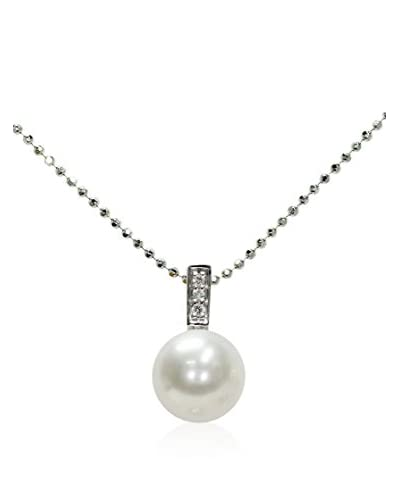 Mayumi Collar Classica 8.5-9.0 mm Sterling-Silber 925 / Blanco