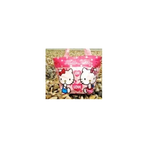 Limited Style Cute Medium Size Pink Hello Kitty Style Tote Lunch Bag