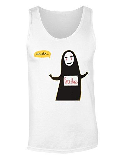 No-Face God From Spirited Away Free Hugs Design Women's Tank Top Shirt Small