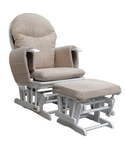 Habebe Glider Rocking Nursing Maternity Breastfeeding Recliner Chair with footstool ***WITH WASHABLE COVERS***