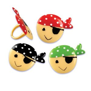 Pirates Cupcake Topper Rings - Set Of 12 front-49397