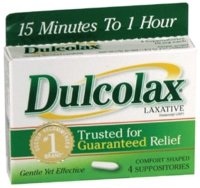 Dulcolax 10 mg laxative suppositories, comfort shaped - 4 ea