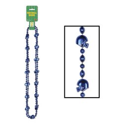 Football Beads (blue)    (2/Card)