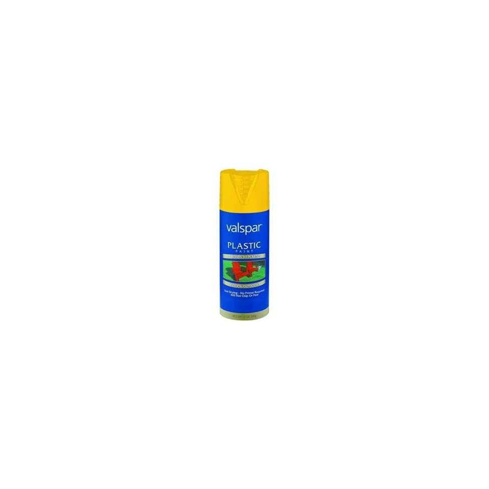 Valspar 12 Oz Yellow Gloss Indoor & Outdoor Plastic Paint Spray Pain   400 12003 SP (Qty 6)