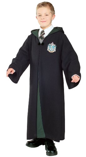 Harry Potter Deluxe Slytherin Robe Child Costume, Large front-523226