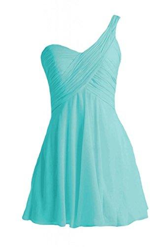 Daisyformals One-Shoulder Cocktail Bridesmaid Dress(Bm2430)- Tiffany Blue
