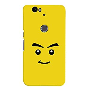 ColourCrust Huawei Google Nexus 6P Mobile Phone Back Cover With Sarcastic Smiley Quirky - Durable Matte Finish Hard Plastic Slim Case