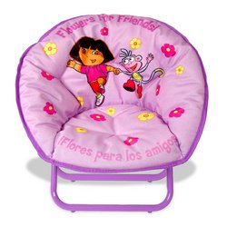 Dora The Explorer Kid Size Sacer Chair With Carry Case